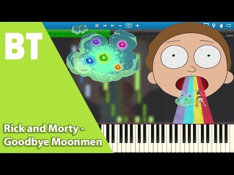 Rick And Morty - Goodbye Moonmen (Piano Cover) + Sheets