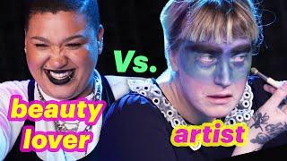 Beauty Lover Vs. Artist • Weather Makeup Challenge