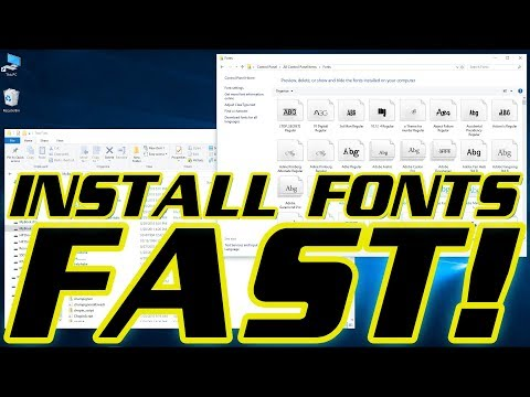 TWO WAYS TO INSTALL MULTIPLE FONTS (HUNDREDS/THOUSANDS) SUPER FAST 🌟