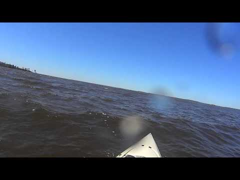 Kayaking 15mph to 20mph Wind Toledo Bend Lake April 2013