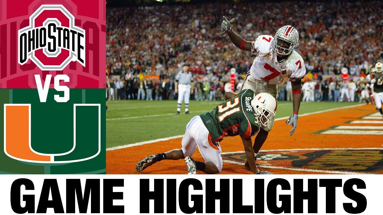 #2 Ohio State vs #1 Miami | 2003 Fiesta Bowl | 2000's Games of the Decade