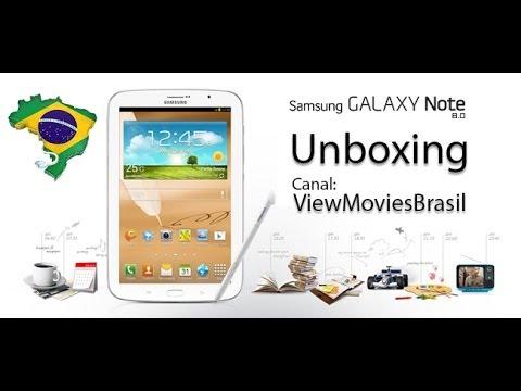 unboxing samsung galaxy note 8 0 gt n5100 3g pt br youtube. Black Bedroom Furniture Sets. Home Design Ideas