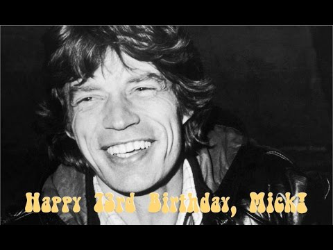 Happy Bday Mick Jagger, a new dad!
