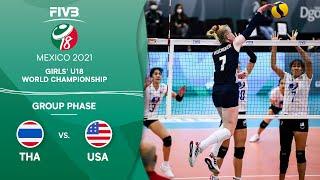 THA vs. USA - Group Phase | Girls U18 Volleyball World Champs 2021
