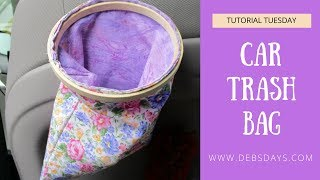 How to Sew a Trash Bag for Car Using an Embroidery Hoop