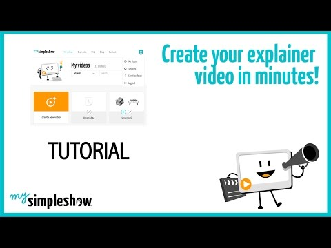 How to create a video with mysimpleshow?