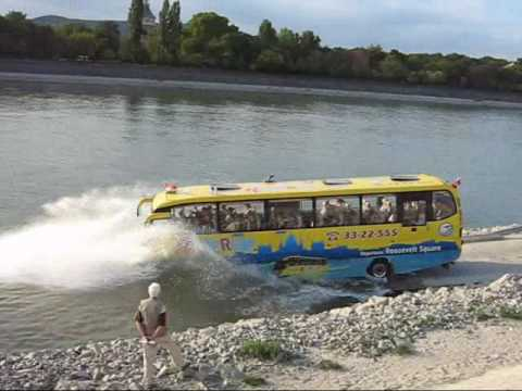 River Ride Amphibious Bus In Budapest Youtube