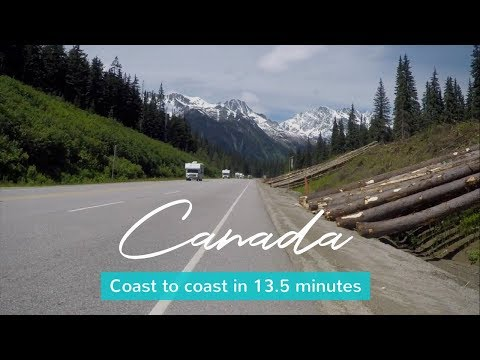Cycling Across Canada - Coast To Coast In 13.5 Minutes