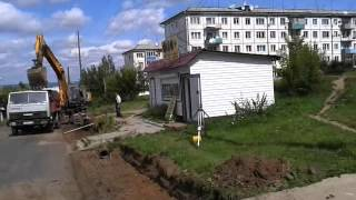 Ремонт на улице Горького города Бирюсинск