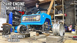 4WD Crawler Go Kart Build Pt. 9 | IFS Complete,  Engine Mounted!
