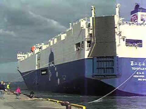 Pure Car Carrier PCC ( RO RO Vessel ) berthing