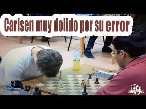 Magnus Carlsen comete un Gran ERROR en el World Rapid Chess Championship 2014