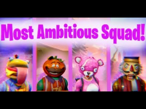 MOST AMBITIOUS SQUAD!!!!!