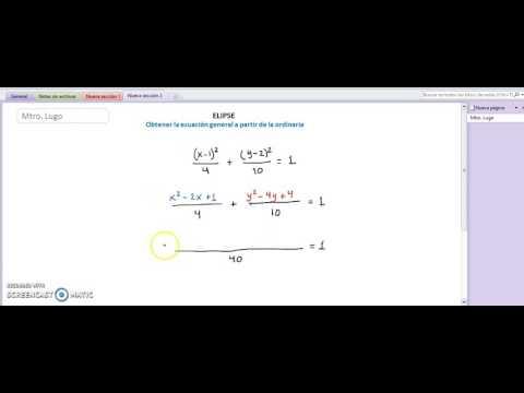 Geo Ana Elipse Ecuacion Ordinaria a General