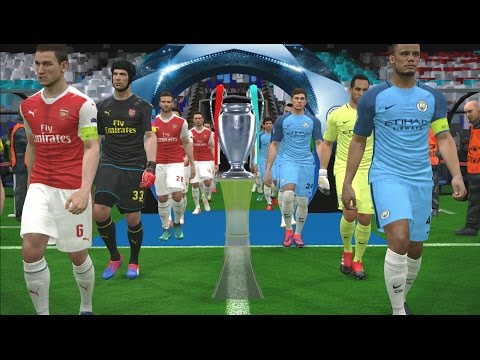 UEFA Champions League Final   Manchester City vs Arsenal   PES 2017 Gameplay PC