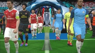 UEFA Champions League Final | Manchester City vs Arsenal | PES 2017 Gameplay PC