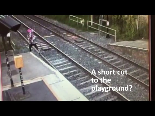 Stay off the tracks - don't take a short cut to death