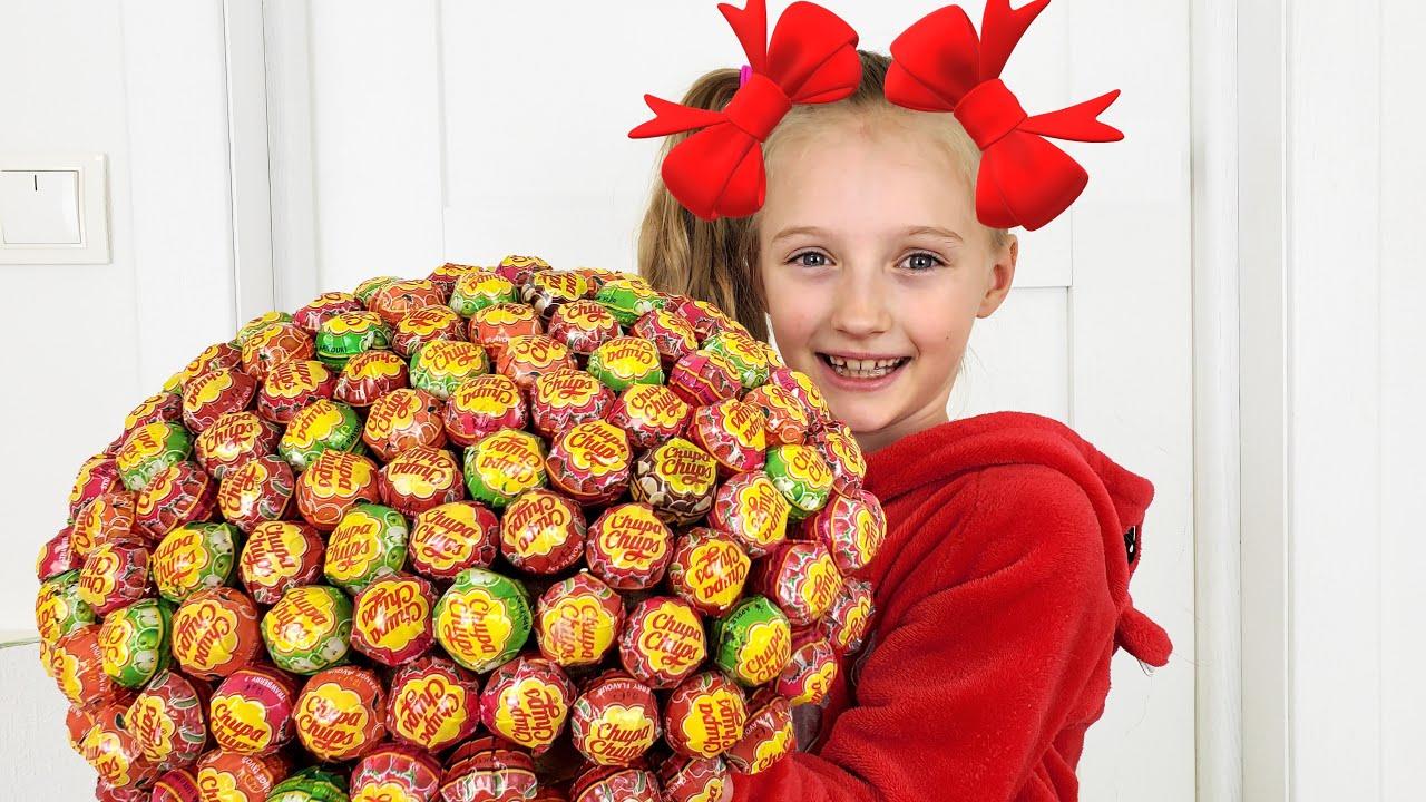 Полина готовит торт из конфет и другие приключения для детей