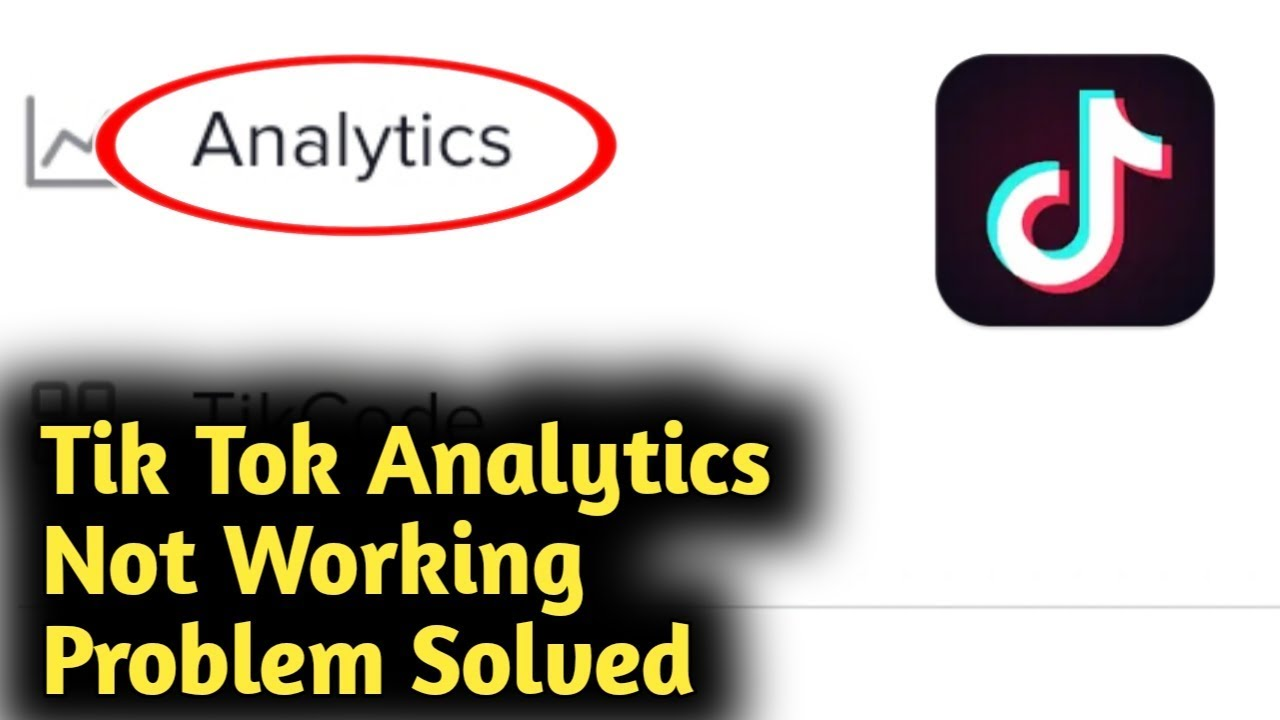 Tik Tok Analytics Not Working Problem Solved Youtube