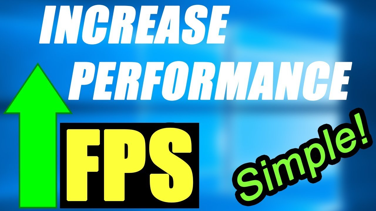 INTEL and AMD FPS GAME BOOSTER! - Windows 7, 8, 10