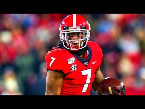 Georgia RB D'Andre Swift 2019 Highlights