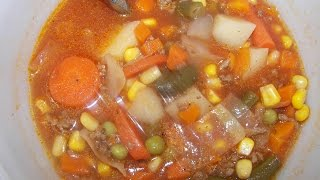 Beef Vegetable Soup - Quick & Easy - How To Make