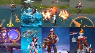 UPCOMING SKINS FOR KAGURA,HARLEY,CLAUDE AND KARRIE IN MOBILE LEGENDS