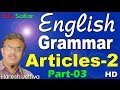 English Grammar in Gujarati-Articles-2 Part-3