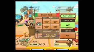Monopoly Gameplay (Wii) with girls