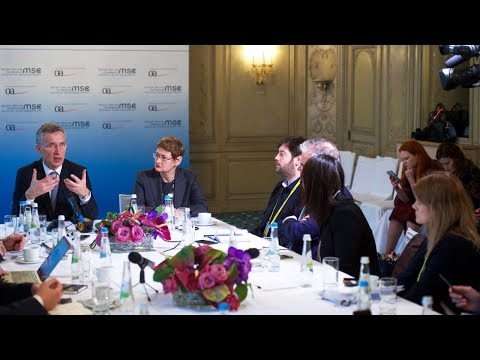 NATO Secretary General's round table with media  at the Munich Security Conference, 17 FEB 2018