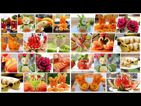 30 TRICKS WITH FRUITS AND VEGGIES - 30 SIMPLE FRUIT CARVING IDEAS