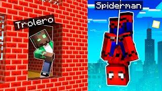 NOS ESCONDEMOS de SPIDERMAN en MINECRAFT! 😱🕷 MINECRAFT ALEATORIO