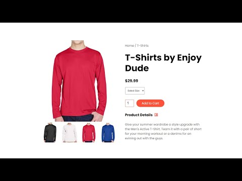 How To Make Product Details Using HTML, CSS And JavaScript