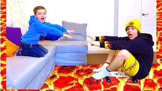 Андрей и игра в Пол это лава челлендж! the floor is lava
