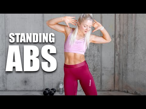 WORKOUT OF THE DAY / 12 MIN STANDING ABS & HIIT AT HOME / no Equipment