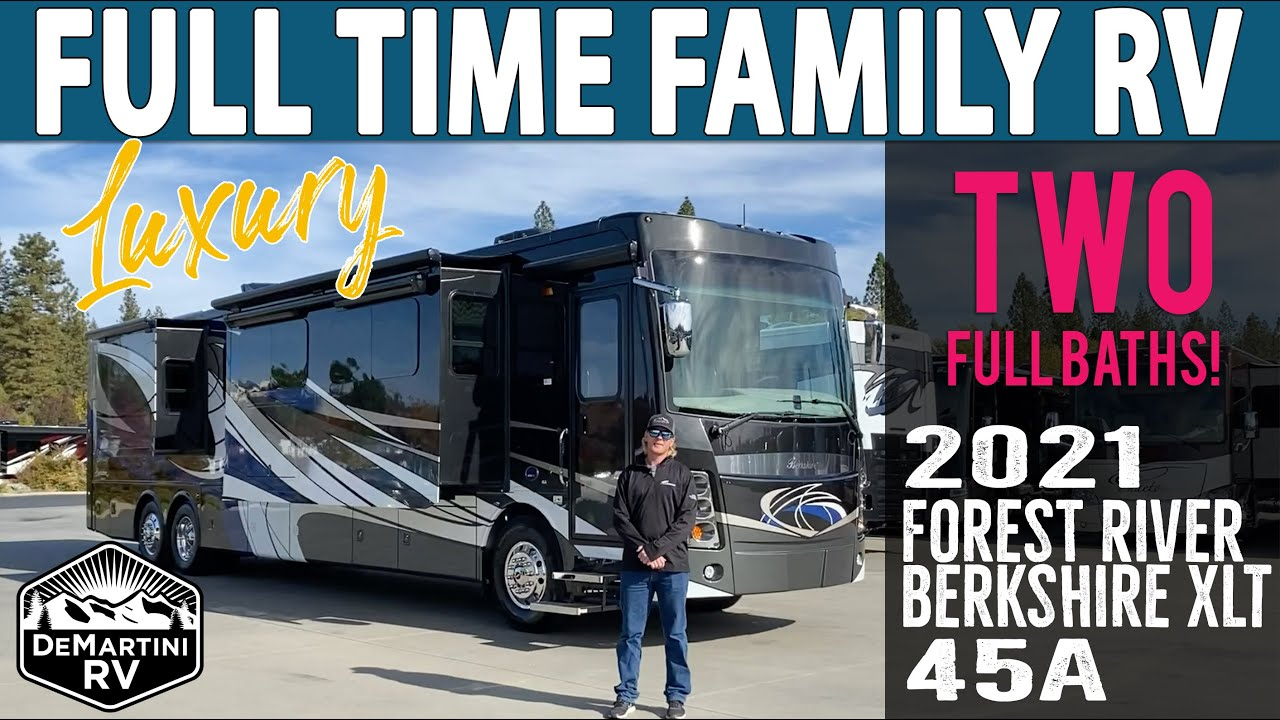 Download 2021 Berkshire XLT 45A by Forest River | Luxury Bunkhouse RV for Full Timers