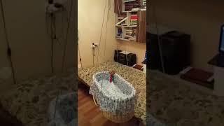 Подвесная плетеная колыбель Uralbasket в интерьере