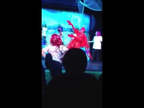 """Jack performing as Sebastian """"Under the Sea"""" in Little Mermaid"""