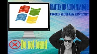Do not found Realtek hd audio manager problem solved #Gts fc