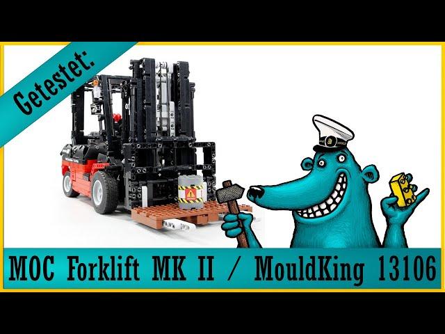 Forklift MK 2 / Mould King 13106: Der Käpt'n testet und freut sich, dass er endlich staplen kann!