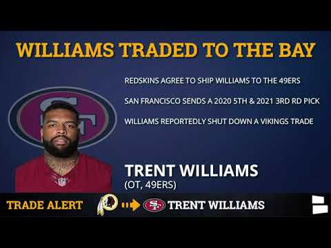 San Francisco 49ers Trade For Trent Williams, Joe Staley To Retire