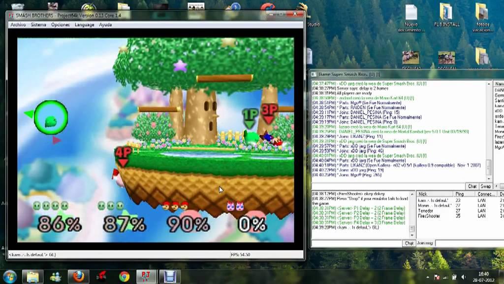 Smash bros 64 / project64k / kirby team (kam & Monin)