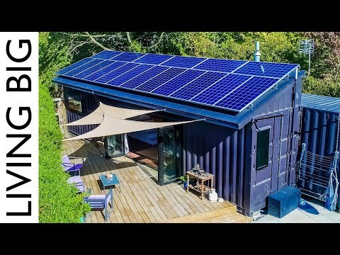 40ft Shipping Containers Transformed Into Amazing OffGrid Family Home