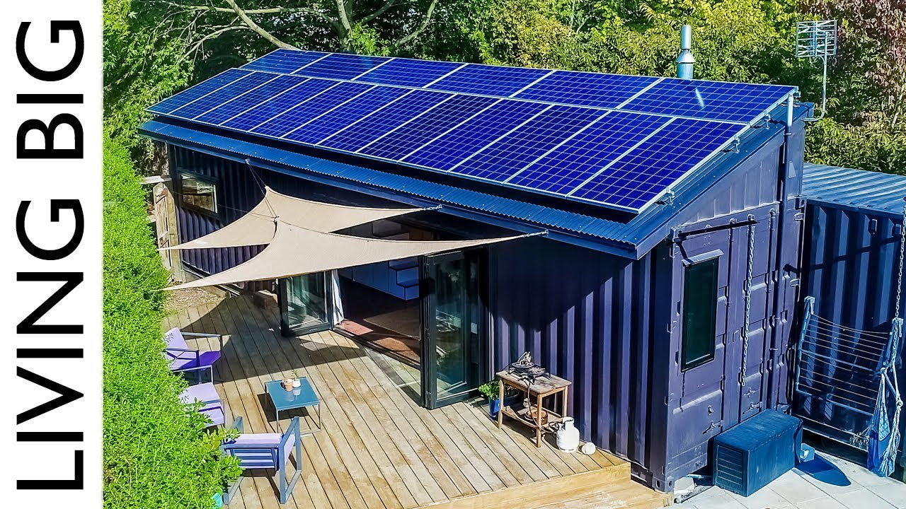 40ft Shipping Containers Transformed Into Amazing Off Grid Family Home