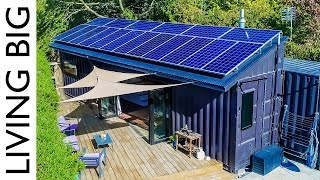 40ft Shipping Containers Transformed Into Amazing Off-Grid Family Home