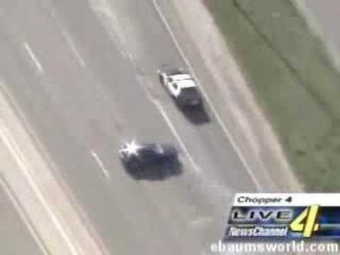 Mustang Police Chase