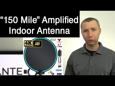 150 Mile Indoor Amplified HD Digital TV Antenna Review - Round Shape