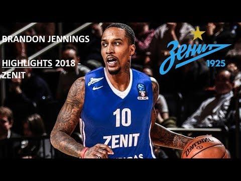 Brandon Jennings - Highlights Zenit 2018 - Master assits and scorer