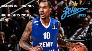 Brandon Jennings - Highlights Zenit 2018 - Master assits and scorer