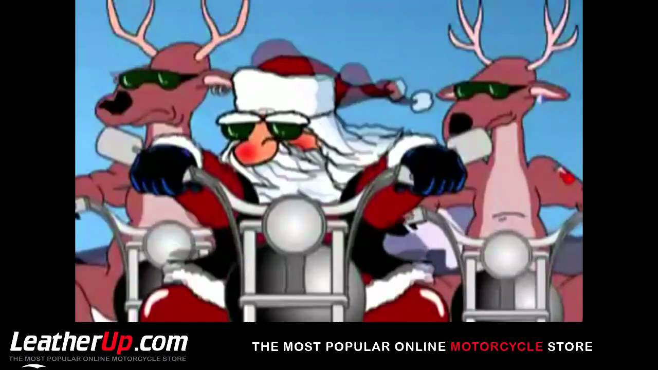 santa claus biker and reindeer bikers riding motorcycles youtube